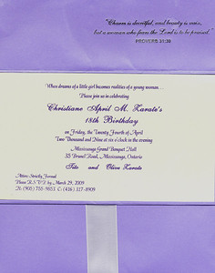 debut invitation picture