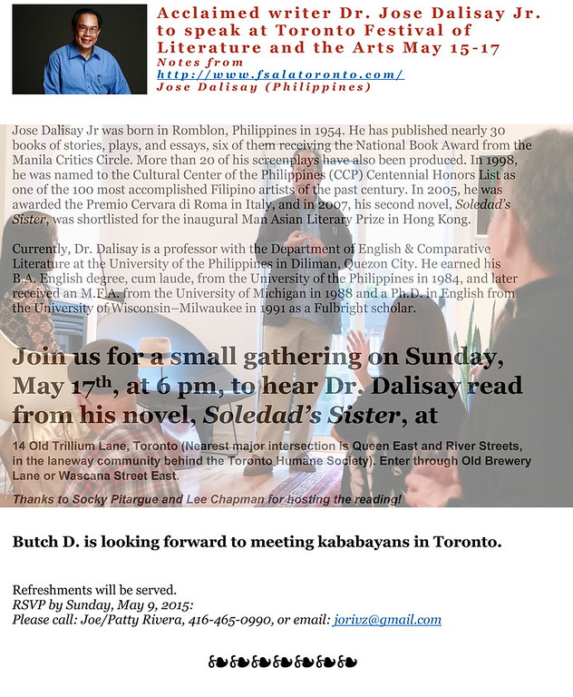 Dr. Butch Dalisay in Toronto