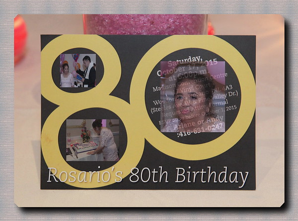 Rosario's 80th Birthday
